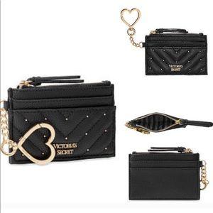 Victoria's Secret card case black mini wallet